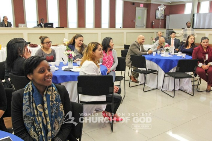 World Mission Society Church of God, wmscog, Ridgewood, NJ, New Jersey, family, seminar, christian, heavenly, banquet, food, gathering